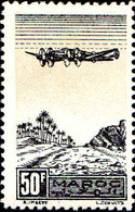 Maroc (Prot.Fr) Avion N** Yv: 54 Mi:211 Avion Sur Palmeraie - Luftpost