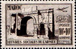 Maroc (Prot.Fr) Avion N** Yv: 79/80 Oeuvres Sociales De L'armée - Luftpost