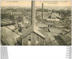 71 MONTCEAU-LES-MINES. Les Ateliers Et Usines 1921 - Montceau Les Mines