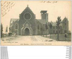 35 RENNES. Eglise Des Sacrés-Coeurs Vue De Face 1918 Avec Son Clocher - Rennes