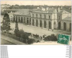 35 RENNES. La Gare Avec Fiacres 1910 - Rennes