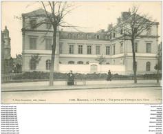 35 RENNES. Le Musée Vue Prise Avenue De La Gare - Rennes