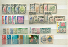 Col 301 - NICARAGUA - Petite Collection De 98 Valeurs */** - 23 ° - Et 2 Blocs Feuillets - Nicaragua