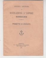 """Statuto """"Navigazione A Vapore Marsalese""""- Italy Italia - Documenti Storici"""