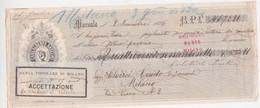 """Lettera Di Cambio """"Ditta Carlo Alberto Anselmi Marsala 1886- Italy Italia - Cambiali"""