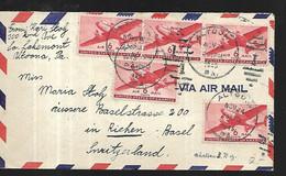 Etats - Unis Lettre Par Avion Du 24 Novembre 1945 De Altoona   Pour Bâle En Suisse - Briefe U. Dokumente
