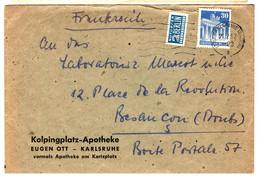 44196 - De KARLSRUHE Pour La France - Lettres & Documents