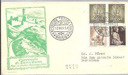 MATASELLOS 1954  MADRID  EXPO.TIERRA SANTA - 1951-60 Lettres