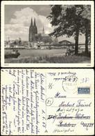 Ansichtskarte Köln Kölner Dom Fernansicht, Rhein Partie 1955 - Koeln