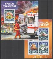 ST389 2016 SIERRA LEONE TRANSPORT SPECIAL TRANSPORT KB+BL MNH - Hubschrauber