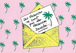 Poste Postes - Les Vacances Sans Toi Ne Sont Pas Des Vacances...Lettre Palmier Palmiers - - Poste & Postini