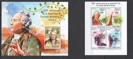 TG434 2014 TOGO TOGOLAISE MUSIC FAMOUS PEOPLE 300TH ANNIVERSARY CHRISTOPH GLUCK KB+BL MNH - Cars