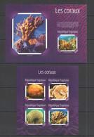 TG510 2014 TOGO TOGOLAISE FLORE MARINE LIFE CORALS LES CORAUX KB+BL MNH - Vita Acquatica