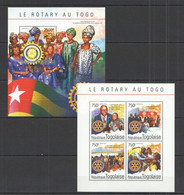 TG517 2014 TOGO TOGOLAISE ORGANIZATION ROTARY IN TOGO TOGOLAISE KB+BL MNH - Rotary, Lions Club
