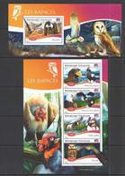 TG530 2014 TOGO TOGOLAISE FAUNA BIRDS RAPTORS LES RAPACES KB+BL MNH - Eagles & Birds Of Prey