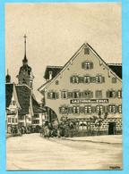 """Monokarte Küssnacht Am Rigi 1910 - Die Kirche Und Der """"Engel"""" - SZ Schwyz"""