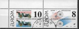1994 Bosnia - Herzegovina, Bosnien-Herzegowina Croat.  Mostar Mi. 17-18 Used   Europa: Entdeckungen Und Erfindungen - 1994