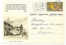 """283 - 71 - Entier Postal """"100 Ans Postes Fédérales 1949"""" Oblit Mécanique - Léger Pli - Entiers Postaux"""