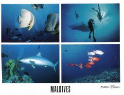 (JJ 34) Maldives Posted To Australia -  4 Views (with UNICEF Stamp) - Maldives