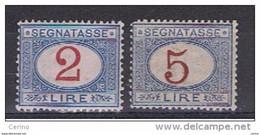 REGNO:  1903  TASSE  -  S. CPL. 2  VAL.  AZZURRO  E  CARMINIO  L. -  BUONA  CENTRATURA  -  SASS. 29/30 - Portomarken