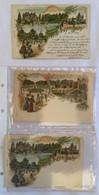 Lot De 3 Cartes - Souvenir De Vichy Les Bains-376 377 378 - Gruss Aus.../ Gruesse Aus...