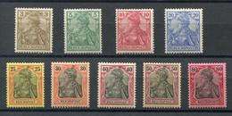 Deutsches Reich Mi Nr. 54-62** - Katalogpreis 840Euro - Unused Stamps