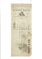 Brasserie Alberic Maton -Effet De Commerce-Etroeungt Avesnes - - 1800 – 1899