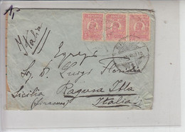 ROMANIA  1923 - Yvert  287 (x 2) - Lettera Per Italia -.- - Brieven En Documenten