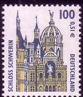 2156 Sehenswürdigkeiten 100 Pf / 0,51 Euro Schwerin ** Postfrisch - Ohne Zuordnung