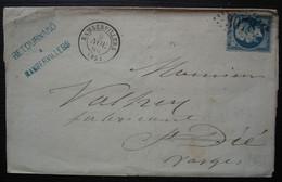 Rambervillers Vosges 1865 Retournard Gc 3078 Lettre Pour Saint Dié - 1849-1876: Periodo Clásico