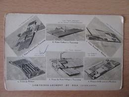 Carte Postale Publicitaire LORTHIOIS-LEURENT Et Fils, Tourcoing - Carte Multivue Des Usines Du Groupe - Vers 1930 - Pubblicitari