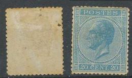 D - [203320]B/TB//*/Mh-c:820e-N° 18, 20c Bleu Profil, Rousseur Et Dent Courte, Perf 14 1/2x14, Gomme Originale */mh, TB - 1865-1866 Profil Gauche