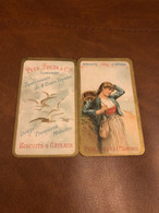 Ancien Calendrier 1889 !!! Illustré * Biscuits & Gâteaux PEEK FREAN & Cie , Londres * Calendar Illustrateur - Small : ...-1900