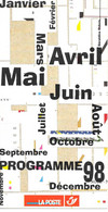 Programme 1998 - Poste Belge - Documents De La Poste