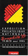 Feuillet - Exposition Bruphila'95 - Documents De La Poste