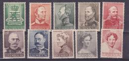 Lussemburgo 1939 312-21 Centenario Dell'indipendenza Mnh - 1926-39 Charlotte Rechtsprofil