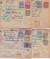 Autriche-Hongrie Österreich-Austria Lot 12 Bulletins D'Expédition Paket Stickereien Parfum Gablonz Zeidler Lustenau Wien - Covers & Documents