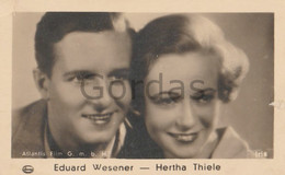 Edward Wesener - Herta Thiele - German Actor, Actress - Photo 45x75mm - Personalità