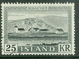 Iceland 1957; Bessastaðir (Residence) - Michel 319, Used. - Gebraucht