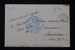 MAROC - Cachet De Bataillon D'Ouvriers D'Artillerie Sur Carte Postale ( Casablanca ) Pour La France - L 90276 - Briefe U. Dokumente