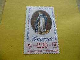 TIMBRE   SPM   ANNÉE   1989    N  501    COTE  1,25  EUROS   NEUF  LUXE** - Neufs
