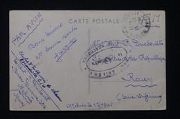 MAROC - Cachet De Vaguemestre De Meknes Sur Carte Postale En FM En 1945 Par Avion  Pour La France - L 90277 - Briefe U. Dokumente