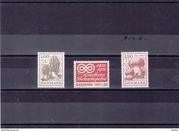 DANEMARK 1978 CANCER CHAMPIGNONS Yvert 673-675 NEUF**MNH - Nuevos