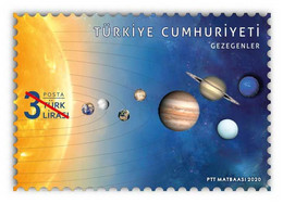 TURKEY STAMPS 2020/PLANETS/SPACE-MNH(110) - Unused Stamps