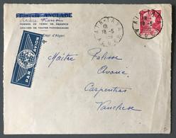 Algérie N°329 Sur Enveloppe Pour La France - TAD AIN-TAYA, Alger 18.5.1956 - (B3867) - Briefe U. Dokumente