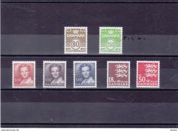 DANEMARK 1985 Série Courante Yvert 824-830 NEUF** MNH Cote : 34,25 Euros - Nuevos