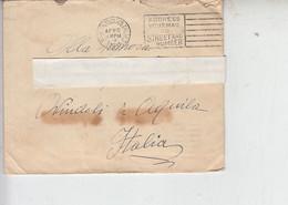 STATI UNITI  1931 - Lettera Per Ovindoli (Italia)-.- - Briefe U. Dokumente