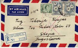 Australia AirMail Registered Letter 1962 G.P.O.Sydney ( D ) Via Yugoslavia,nice Stamps - Briefe U. Dokumente