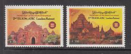 2012 Myanmar Burma Telesom Retreat Telecommunications    Complete Set Of 2 MNH - Myanmar (Burma 1948-...)