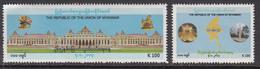 2012 Myanmar Burma Telesom Independence Anniversary    Complete Set Of 2 MNH - Myanmar (Burma 1948-...)